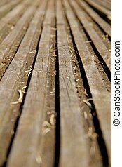 Grooved wood texture - Grooved plank of wood texture