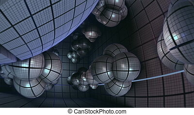 flight inside spherical structures