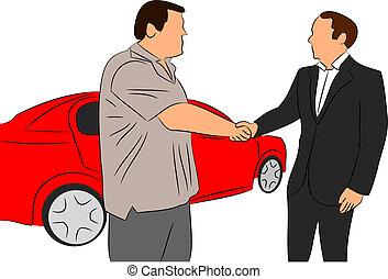 Car Salesman vector