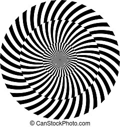 Black and white hypnotic background vector illustration