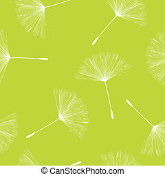 Dandelion seeds pattern - Seamless background illustration...