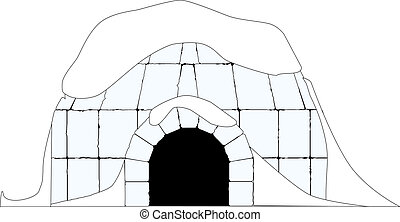 Igloo - An igloo, isolated on a white background, no meshes...