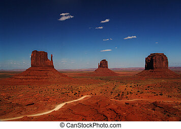 Colours of Monument valley - Rocks in Monumnet Valley...