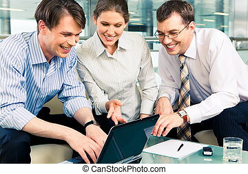 Sharing ideas - Portrait of confident business people...