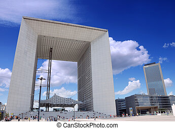 Grand Arch - The Grand Arch La Grande Arche de la Defense in...