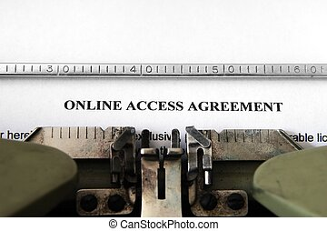 Online access agreement