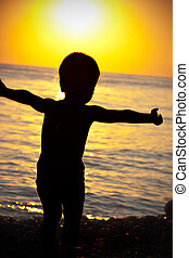 Child at a sea