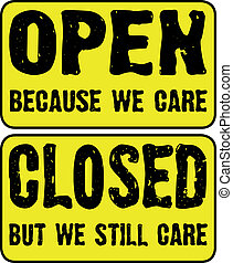 Open and Closed Store Signs - Open and closed store signs...