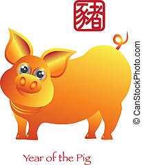 Chinese New Year of the Pig Zodiac