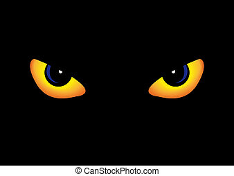 Predator eyes - Abstract vector illustration of some...
