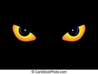 prédateur, yeux