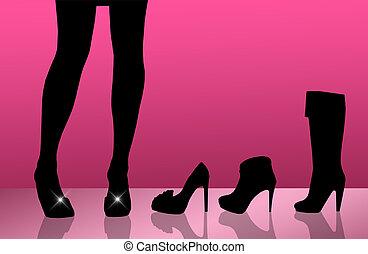 shoe store - shopping shoes