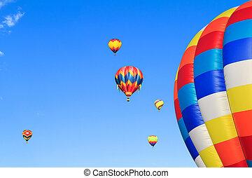 hot air balloons - colorful hot air balloons