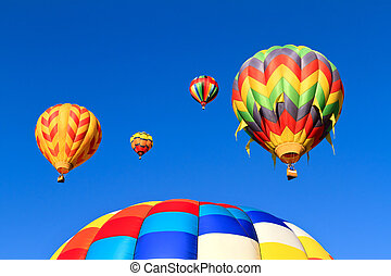 quentes, ar, balões