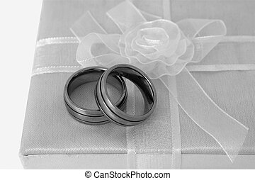 two mens rings for gay wedding - two mens white gold rings...
