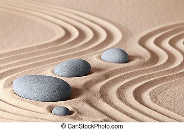 zen, giardino, pietre