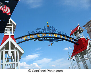 ocean city boardwalk - The famous public BOARDWALK sign...