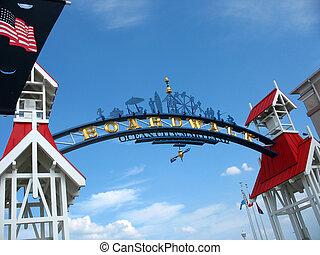 ocean city boardwalk - The famous public BOARDWALK sign...