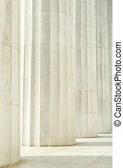 Column Pillars in a Row