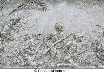 US Infantry War Plaque in Washington DC World War 2 Public...