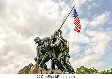 Iwo Jima in Washingron DC - WASHINGTON DC - AUGUST 20: Iwo...