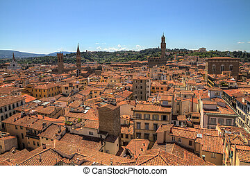 Firenze cityscape - Cityscape of Firenze, Italy, seen from...