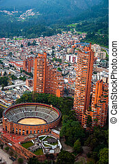 Bogota View - A view of Bogota, Colombia including the...