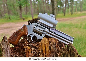 hunters dream - 357 magnum pistol and scope