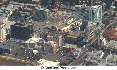 Aerial, Hollywood, California 01 - Flying over the...