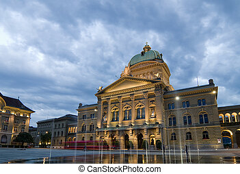 Federal Palace of Switzerland - Front view of the Federal...