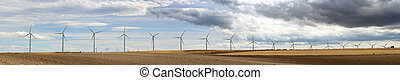 Wind generators panoramic image.