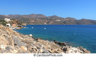 Beatiful sea view of Mirabello Bay near Agios Nikolaos