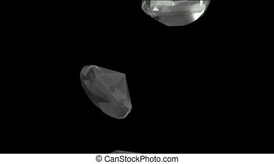 falling large diamonds and gems - falling large diamonds...