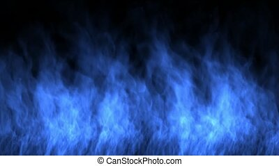 blue fire wall