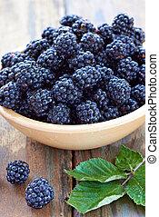 sano, cibo, rovo, frutta