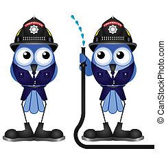 low pressure hose - Firefighters with low pressure hose...