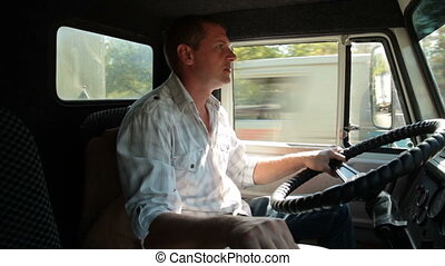 Delivery Truck Driver - Delivery truck driver at the wheel