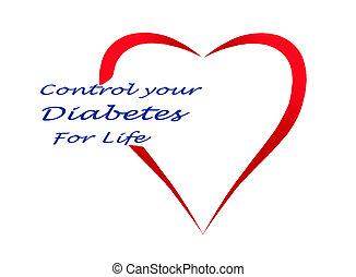 Controle, diabetes, seu, vida