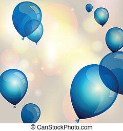 Blue Vector Balloons - Vector illustration of blue balloons