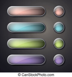 Vector set of blank web buttons - Vector Illustration of...