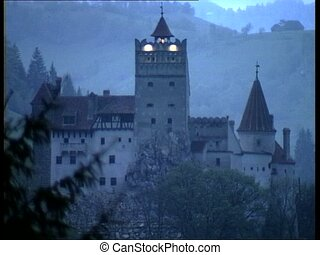 DRACULA CASTLE view - View of Count Dracula Castle Bran...