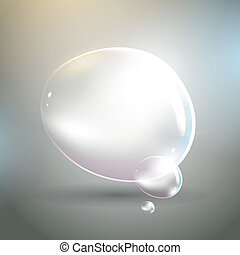 Vector bubbles on a grey background