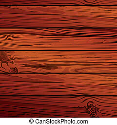 Vector wood planks - Vector illustration of wood planks