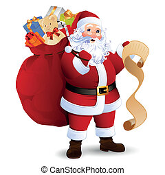 Vector Santa Claus - Vector Illustration of Santa Claus...
