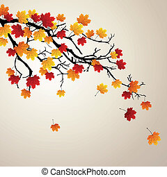 Vector Autumnal Background - Vector Illustration of an...