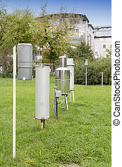 Meteorological instruments outdoors - Various meteorological...