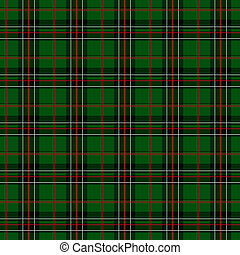 Green, Red, White and Black Plaid Fabric Background that is...