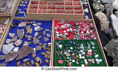 various jewelry stones in market
