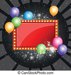 Colorful Vector Party Background - Vector Illustration of a...