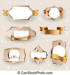 Decorative Golden Vector Frames